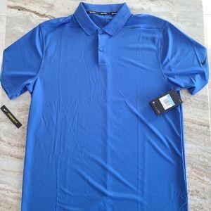 Nike Dri-Fit Blue Golf Polo Size Medium - New